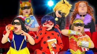 Свидание Леди Баг и Кота Нуара, Герои мультфильмов идут в кинотеатр, на свидание