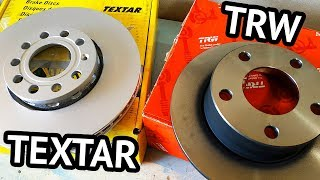 Тормозные диски TRW и TEXTAR - сравниваем популярных производителей