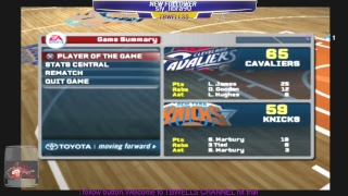 PS3  Night cap game play of NBA LIVE 08