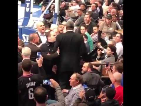 Charles Oakley Gets Into Fight at Knicks Game; Smacks Security Guards; Arrested on Scene