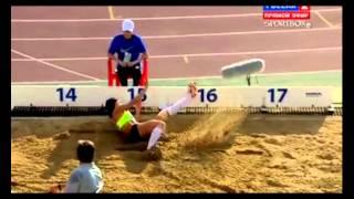 ЧР 2012 Лебедева тройной прыжок 14,68м
