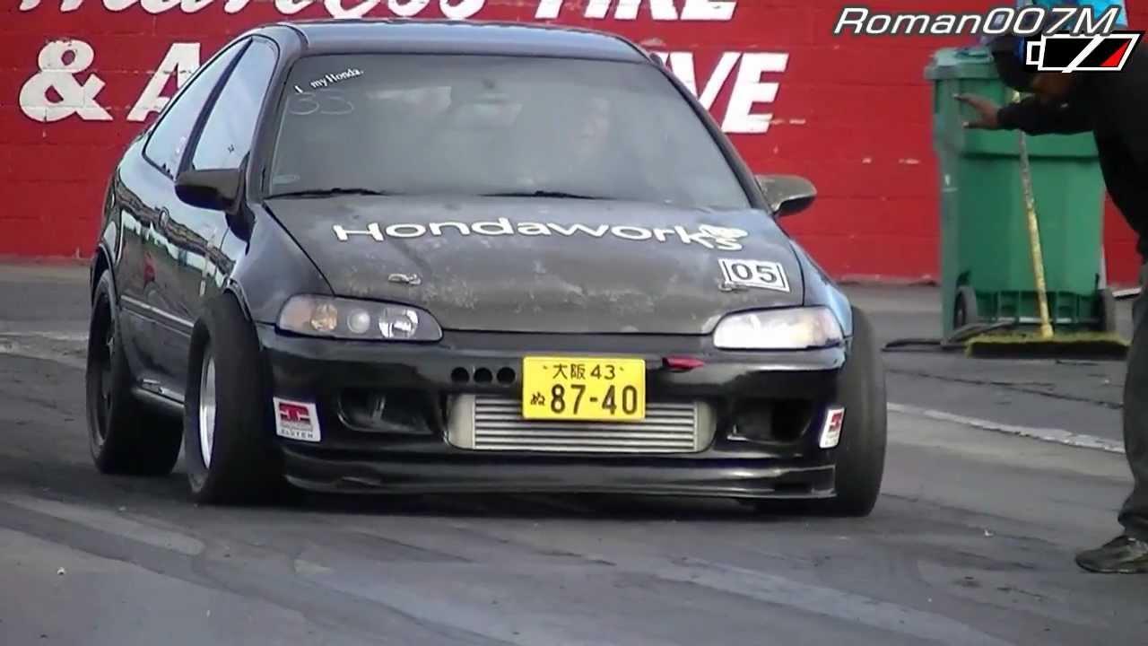 Honda Civic Srt >> Honda Civic Turbo Vs Dodge Neon Srt 4 Youtube