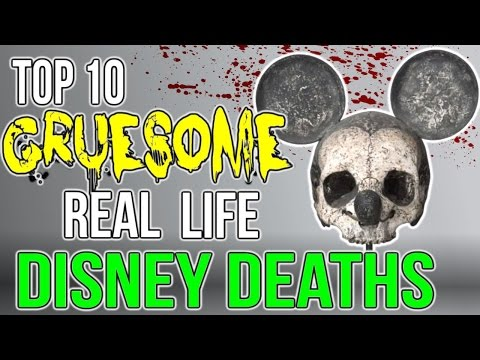 Top 10 GRUESOME Real Life Disney Deaths!