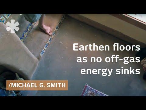 Natural building: a water-resistant earthen floor