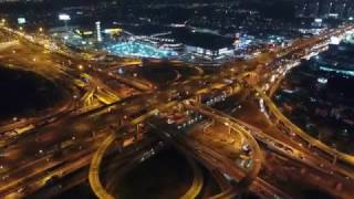 Mega Bangna intersection in the evening - Phantom 4 Pro