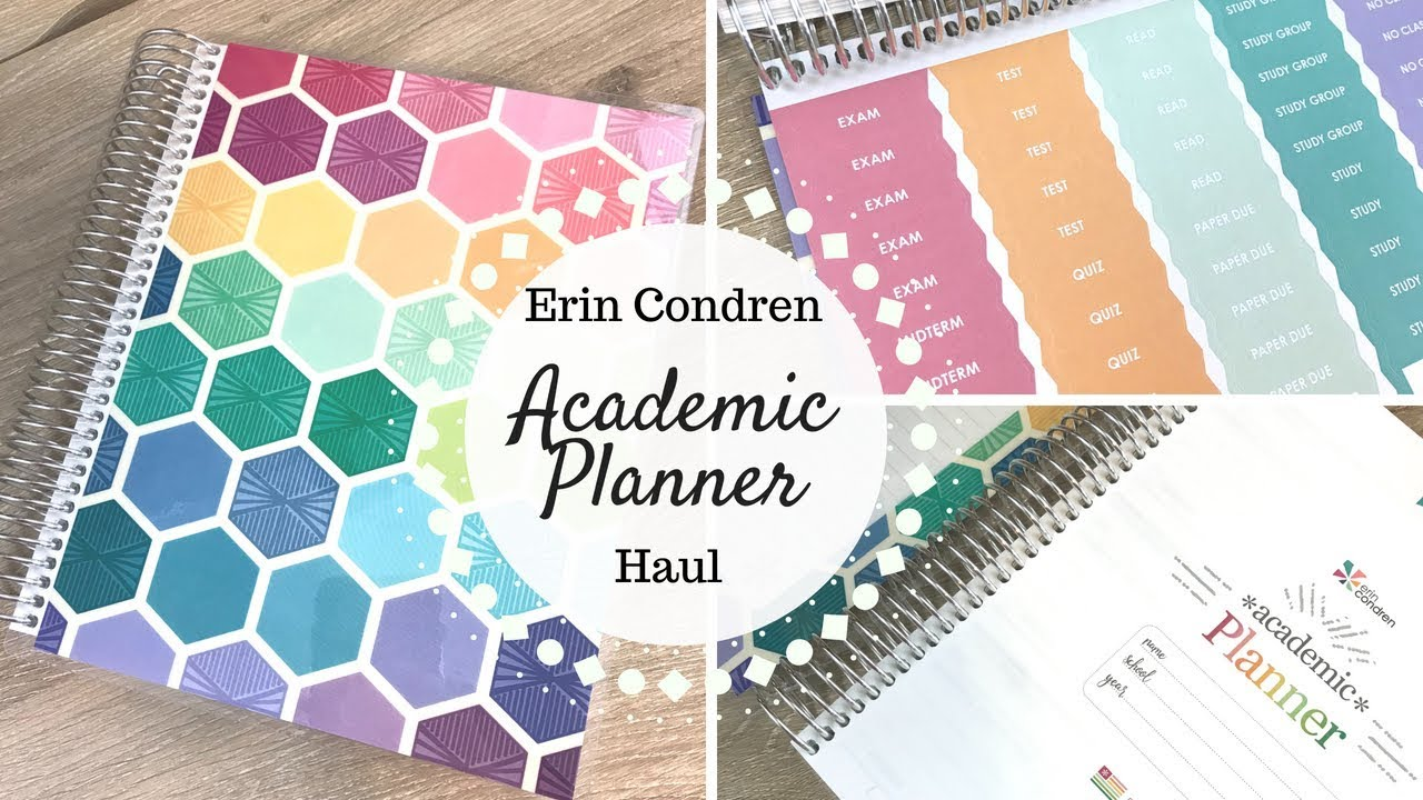 Erin Condren Academic Planner Accessories Haul Youtube