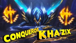 The Conqueror Kha'zix Solo Queue Build - League of Legends
