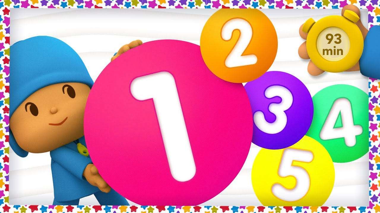 🔢 POCOYO AND NINA - Learn to Count [93 minutes]   ANIMATED CARTOON for Children   FULL episodes