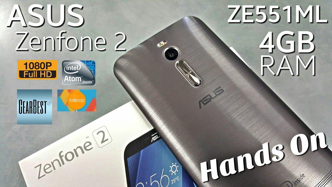 Asus Zenfone 2 Hands On Ze551ml 4gb 32gb 55 1080p 4g 2gb 16 Lte 5mp 13mp Intel Z3560 Youtube