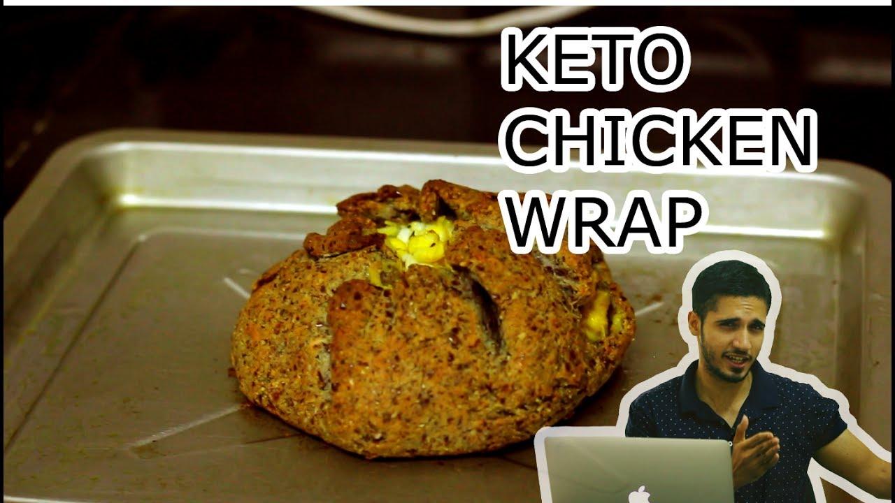 Keto Chicken Wrap | Keto Recipes | Ketogenic Diet India - YouTube