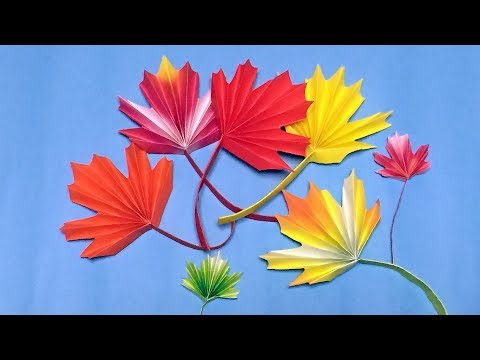 Origami Maple Leaf Easy Instructions - for Thanksgiving Day Decoration DIY