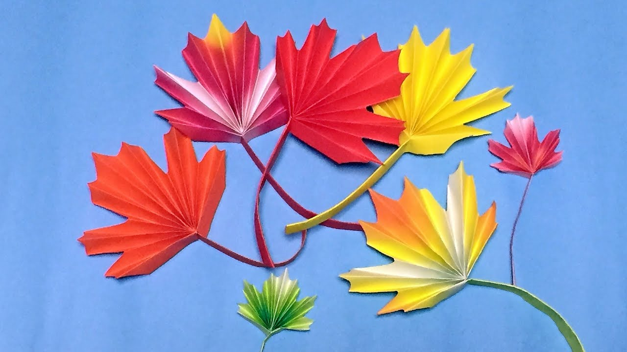 Origami Maple Leaf Easy Instructions - for Thanksgiving ... - photo#30