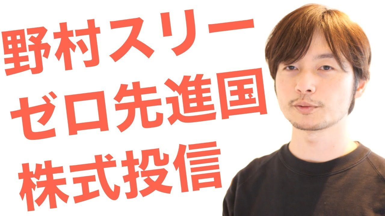野村 スリーゼロ 先進 国 株式 投信