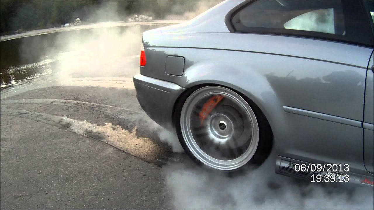 Bmw M3 E46 S/C Burnout - YouTube