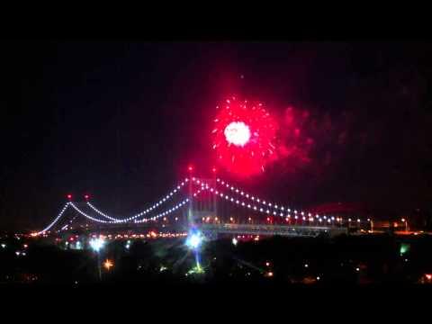 Pre-July Fourth Fireworks on Triborough Bridge