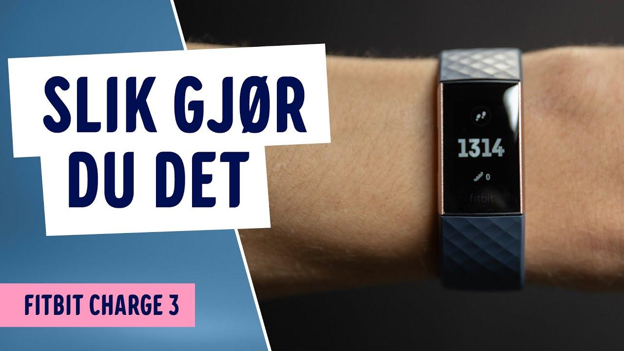 Fitbit Charge 3 aktivitetsarmbånd (sortgrafittaluminium