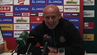 Pressekonferenz nach SV Mattersburg vs. Rapid Wien (5:6 n.E.)