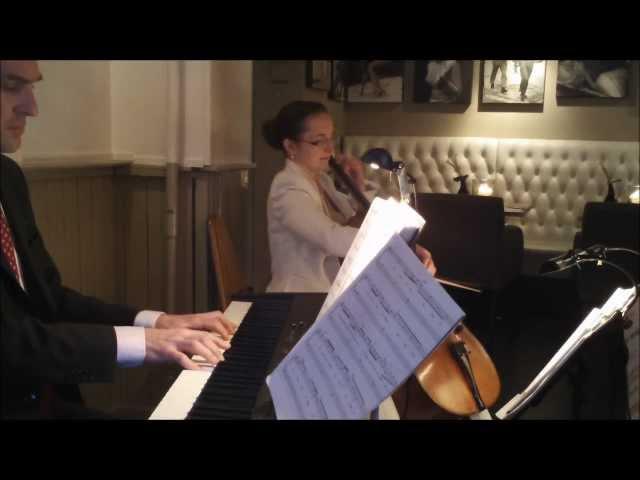 Duo Celliano - sfeermuziek in alle stijl - Bruidsmuziek