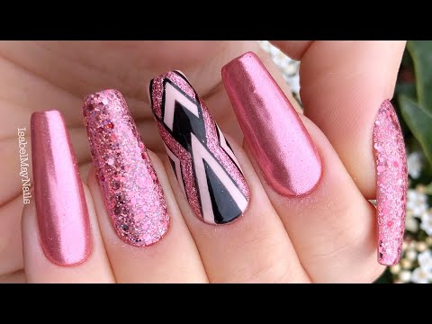 TUTORIAL | ROSE GOLD CHROME AND DESIGN | ISABELMAYNAILS thumbnail