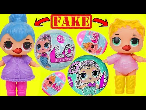 FAKE LOL Surprise Dolls + Lil Sisters Babysitter at Nursery Baby School
