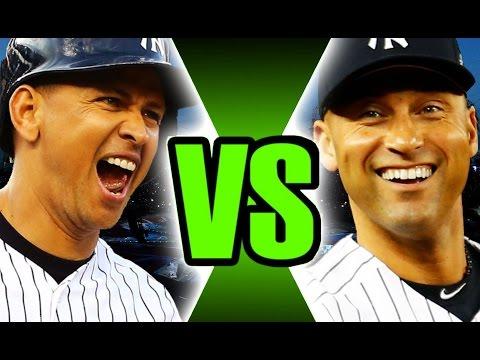 Full Team Of A-Rod VS Full Team Of Derek Jeter! MLB The Show 17 Challenge