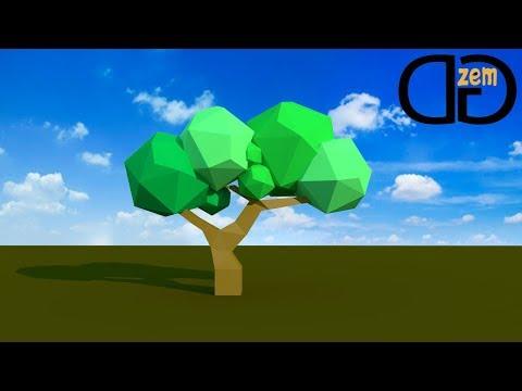 Создание Low Poly дерева в Cinema 4D | Туториал