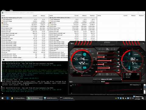 GTX 1070 Vs. GTX 1660 SUPER Mining ETH Ethereum Hashrate With Overclock