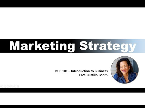 BUS 101 - Intro to Business - Marketing Strategy Overview