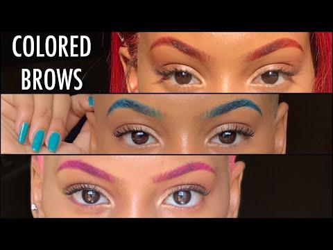 Colored Brows Tutorial | Eyeshadow vs. Eyeliner