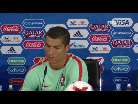 RUS v POR - Cristiano Ronaldo - Portugal Post-Match Press Conference