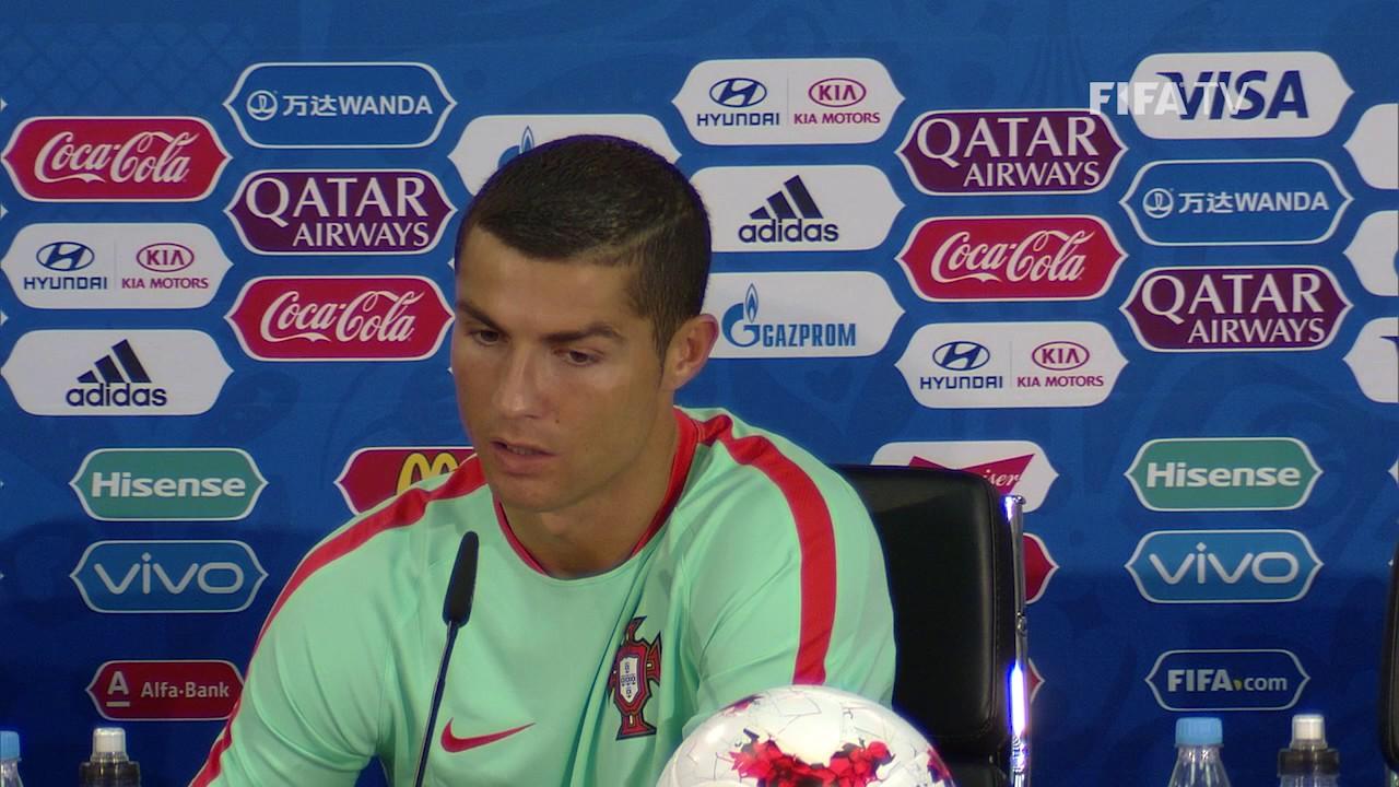 Cristiano Ronaldo escaped from a press conference 02/17/2016 67