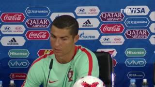 RUS v POR Cristiano Ronaldo Portugal Post Match Press Conference