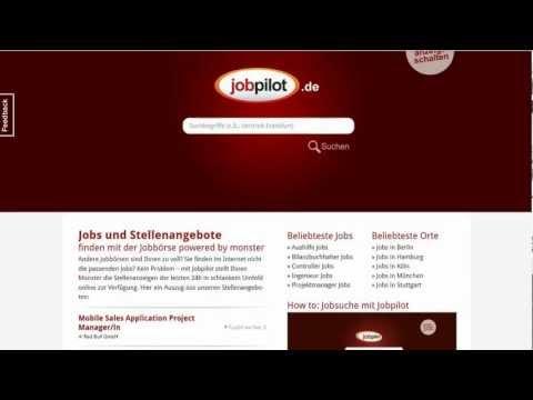 How To: Jobs Suchen Mit Der Jobbörse Jobpilot.de