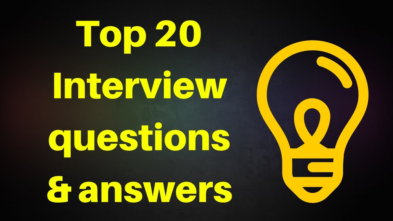 TOP 20 Most Common Job Interview Questions with Best Answers (HINDI,ENGLISH) - YouTube