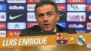 Rueda de prensa de Luis Enrique tras el FC Barcelona vs Real Madrid (1-1)