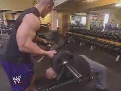 Workout with john cena gold 39 s gym youtube - John cena gym image ...