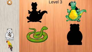 puzzles for children with animals- Learn it in 10 level