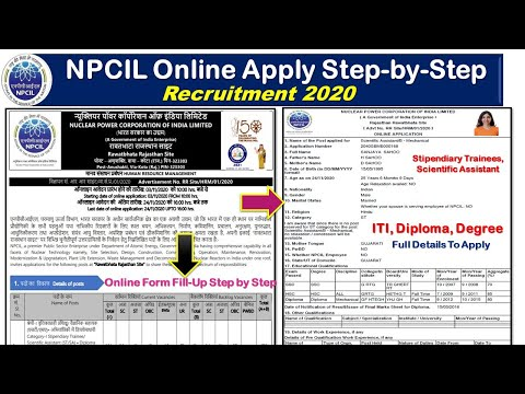 NPCIL Online Form Fill up for Stipendiary Trainees, Scientif