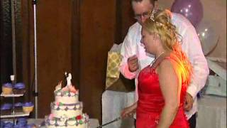Wedding Cake Cutting at A Wedding Reception in Scarborough Videography Photography GTA