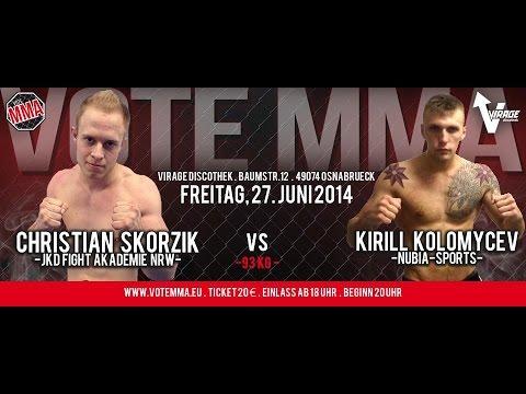 VoteMMA - 9.Fight - 93 kg - Christian Skorzik (JKD Fight NRW) vs Kirill Kolomycev (Nubia Sports)