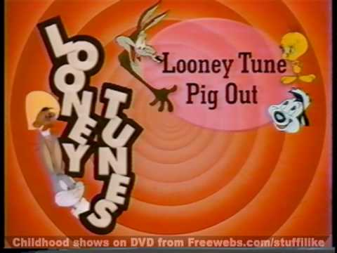 Classic Nick at Nite Promo (Early 90's)  - Looney Tune Pig Out