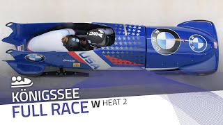 Königssee | BMW IBSF World Cup 2020/2021 - Women's Bobsleigh Heat 2 | IBSF Official