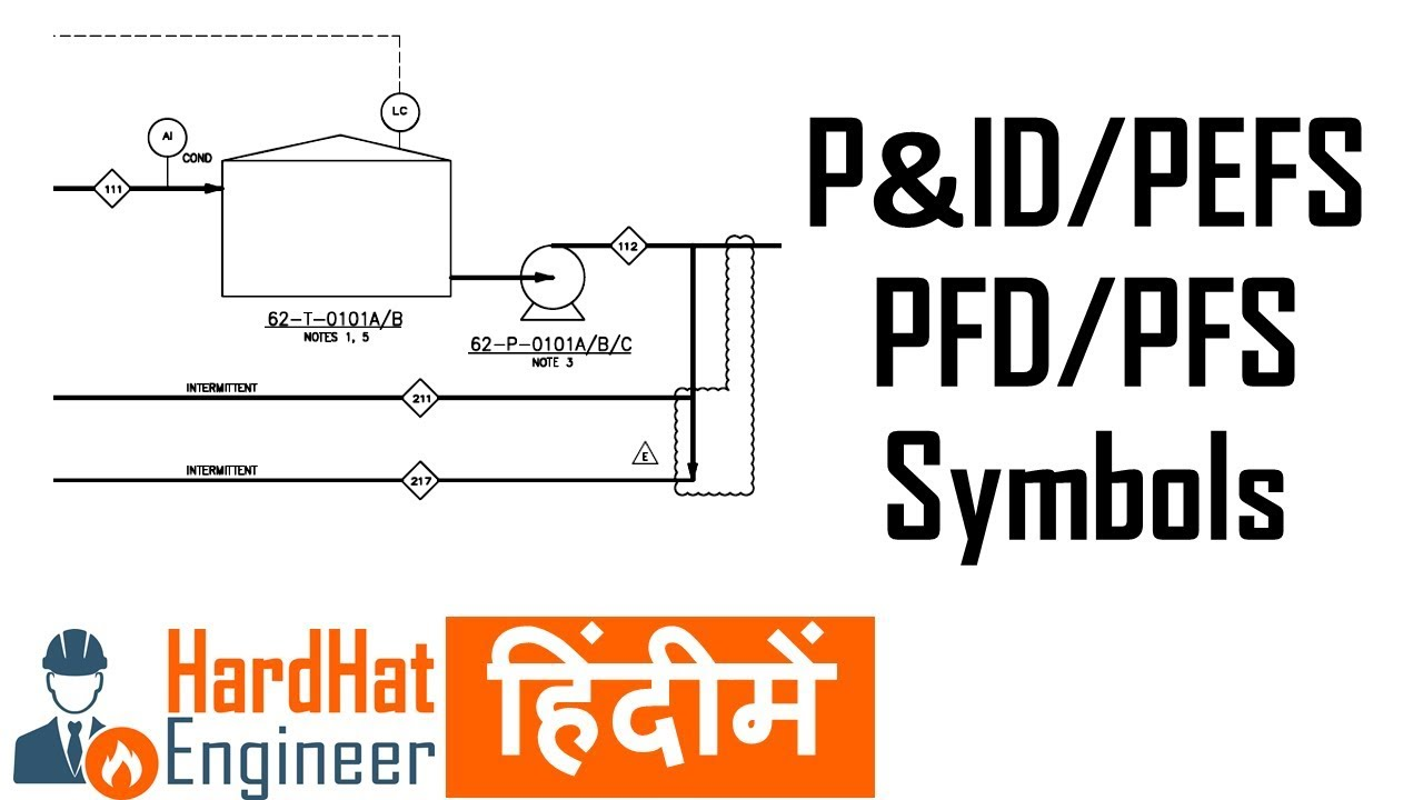 hight resolution of p id symbols and legend in hindi