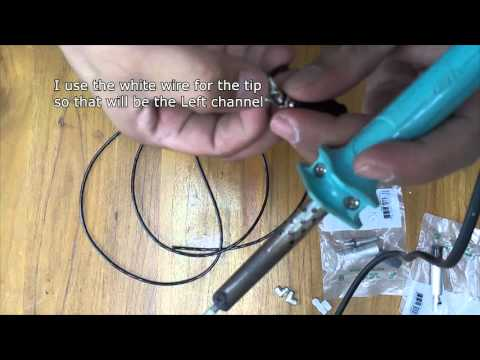 How to make your Own Stereo Cable  (3.5mm Mini Jack to 2 1/4