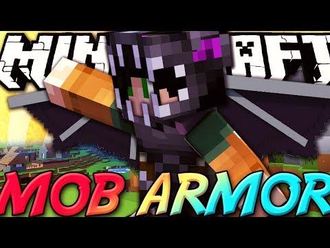 Minecraft ITA - Mod: MOB ARMOR - Vestirsi da Ender Dragon, Creeper, Golem, Zombie, Scheletro