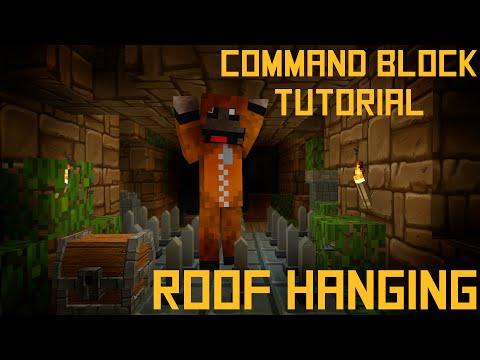 Minecraft - Roof Hanging - 1.9 Command Block Tutorial