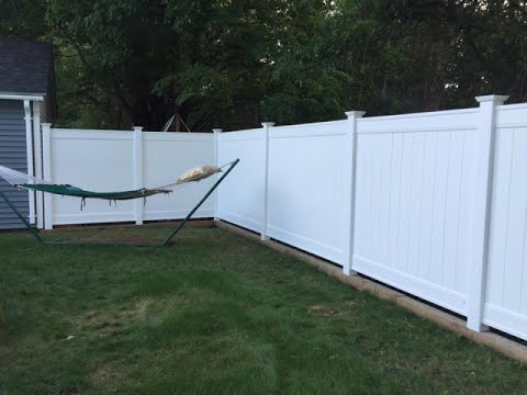 Installing A Vinyl Fence On Retaining Wall The Mounts You