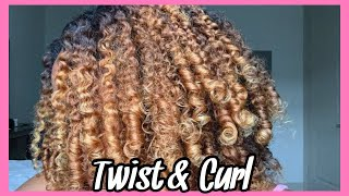 I TRIED !! | TWIST & CURL | SUNKISSEDCURLS