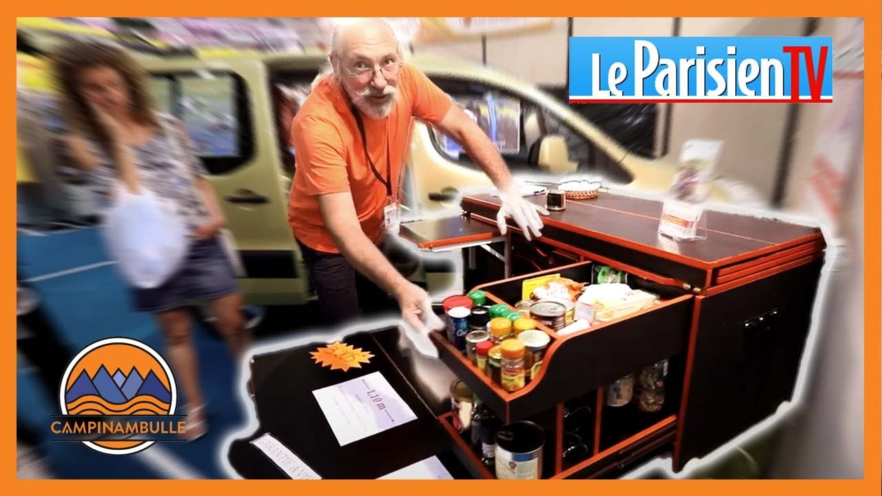 campinambulle am nager sa voiture en mini camping car le parisien tv 2016 youtube. Black Bedroom Furniture Sets. Home Design Ideas