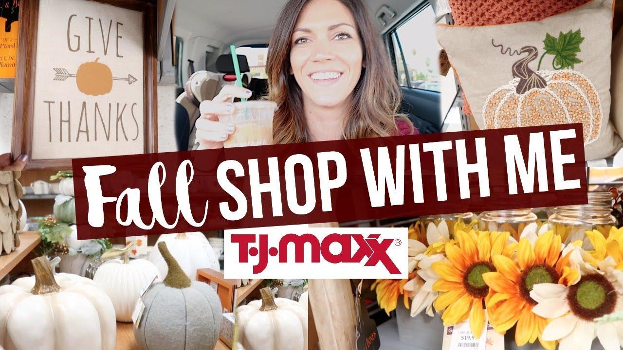 TJ MAXX FALL HOME DECOR  // Shop With Me 2017